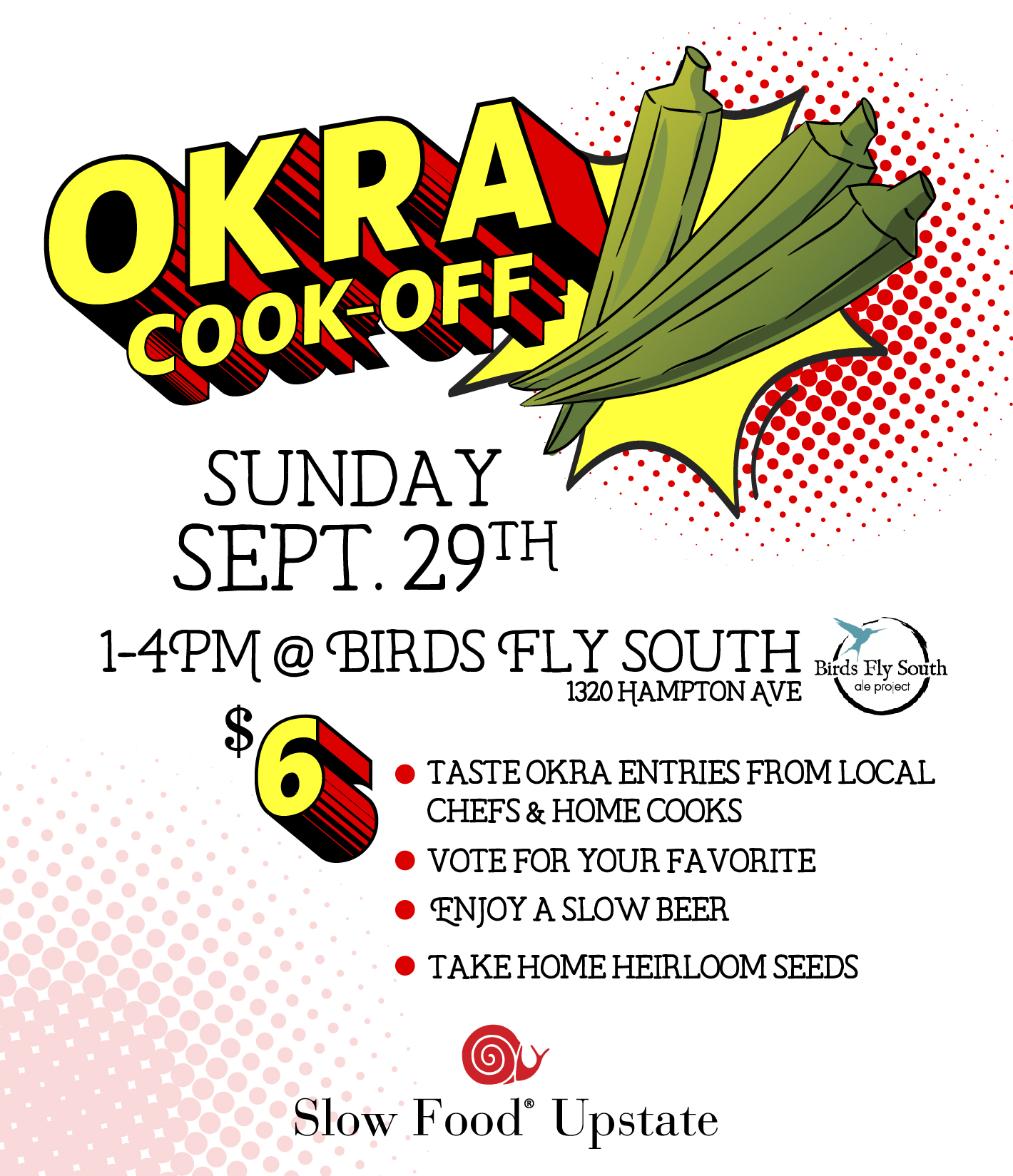 Slow Food Okra Cookoff - Greenville, SC